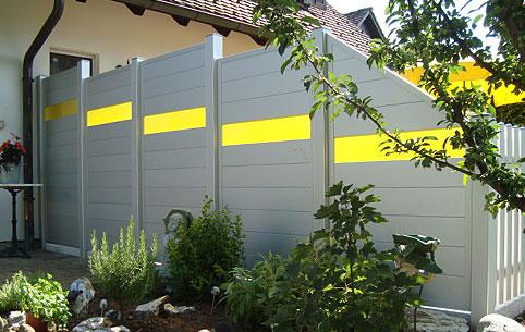 Sichtschutzelemente aluminium
