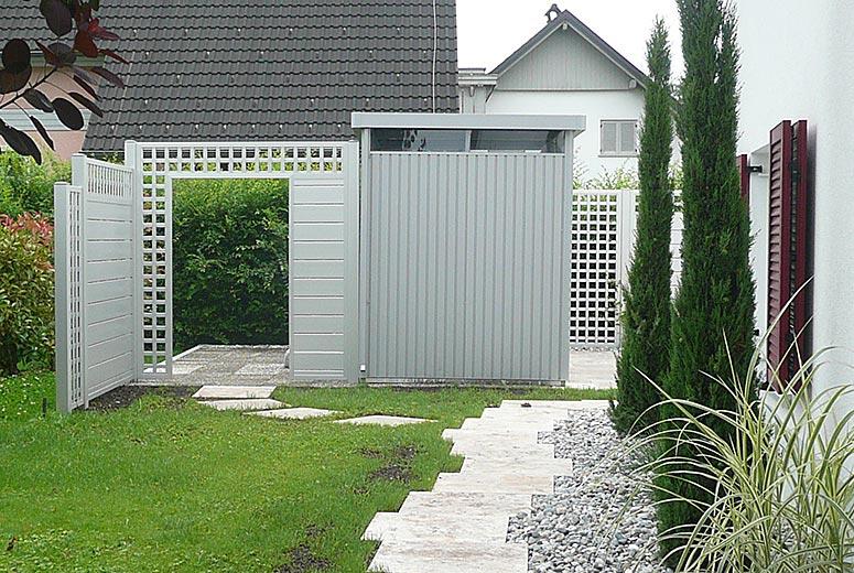 sichtschutz sgg aluminium. Black Bedroom Furniture Sets. Home Design Ideas