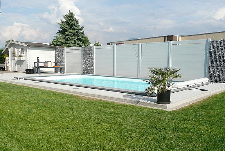 Sichtschutzelemente Aus Aluminium Um Pool ...
